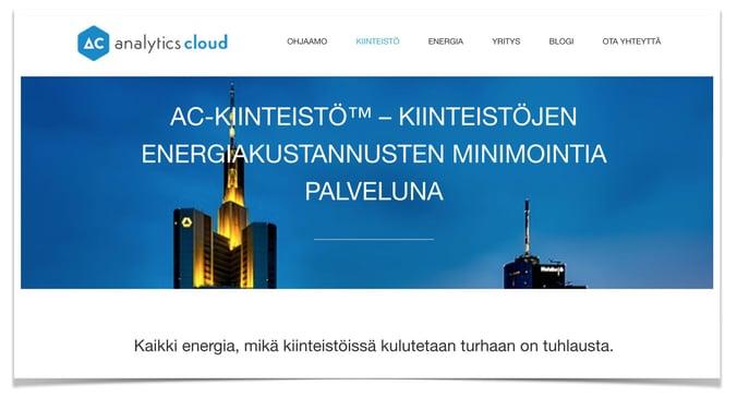 Liiketoimintamuotoilu case Analytics Cloud